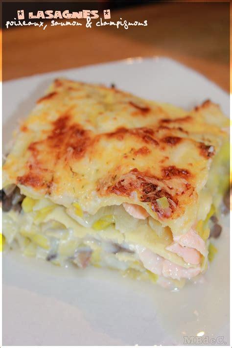 mes brouillons de cuisine lasagnes au saumon poireaux chignons béchamel