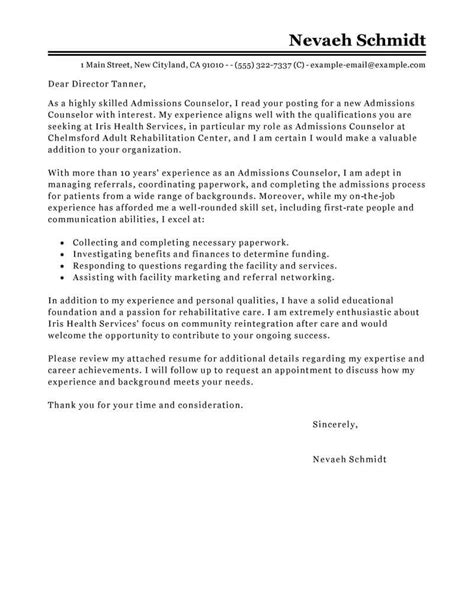 admissions counselor cover letter ipasphoto
