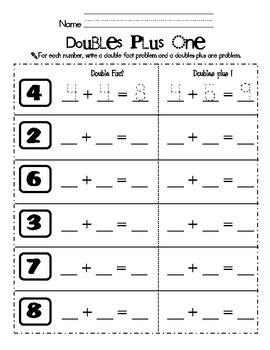 17 Best Images About Doubles Activities On Pinterest  Student, First Grade Blogs And Doubles