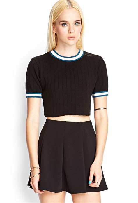 cropped black sweater forever 21 cropped sleeve sweater in black black