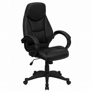 Flash, Furniture, H-hlc-0005-high-1b-gg, High, Back, Leather, Contemporary, Office, Chair