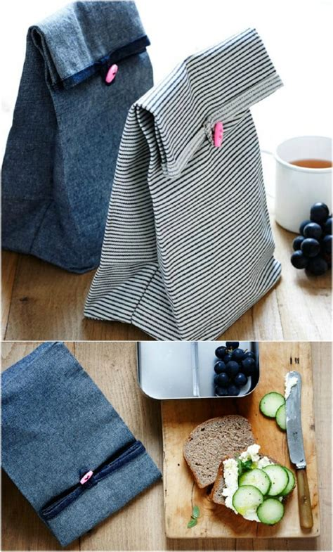 easy  sew diy lunch bags  pouches  kids