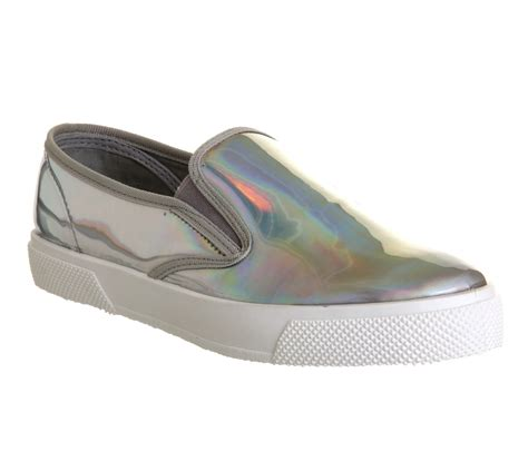 office kicker slip  holographic flats