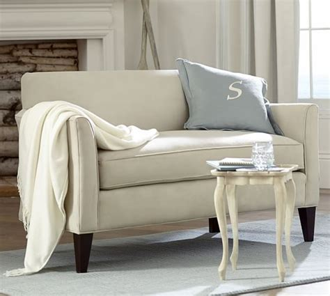 Mini Couches For marcel upholstered mini sofa pottery barn