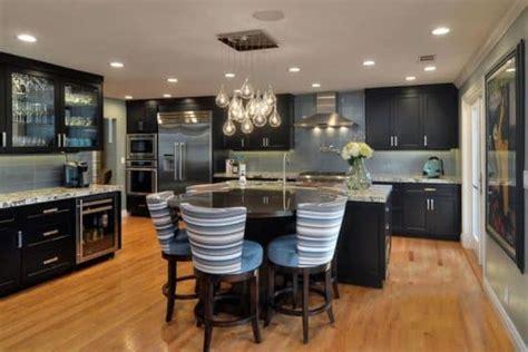 luxury kitchens  dark cabinets design ideas