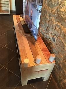 meuble tv de la palette pallet ideas recycled With meuble en palette