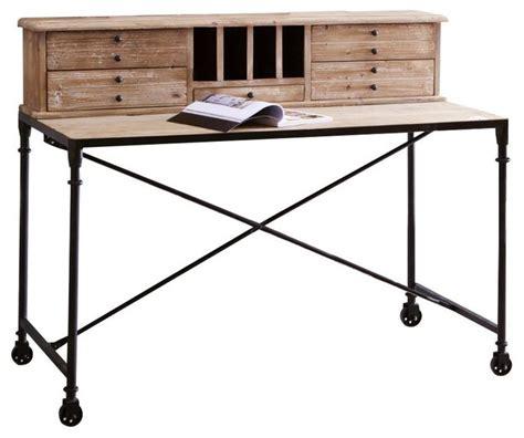 renover bureau bois secrétaire en bois de pin henry industriel meuble bureau et secrétaire par tikamoon