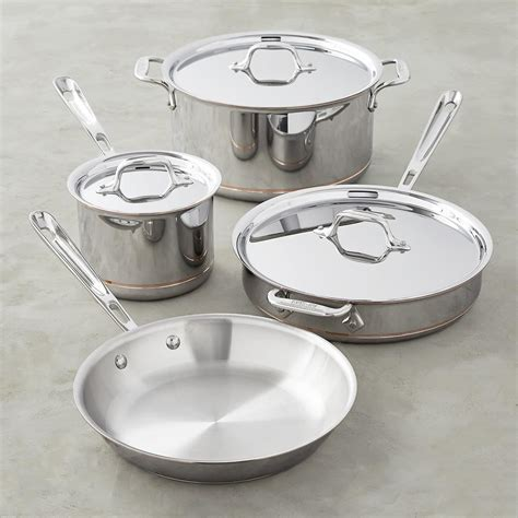 clad copper core  piece cookware set williams sonoma au