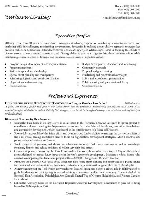 sle resume fundraising director augustais