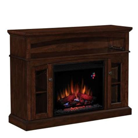 home depot electric fireplace chimney free 48 in media console electric fireplace in