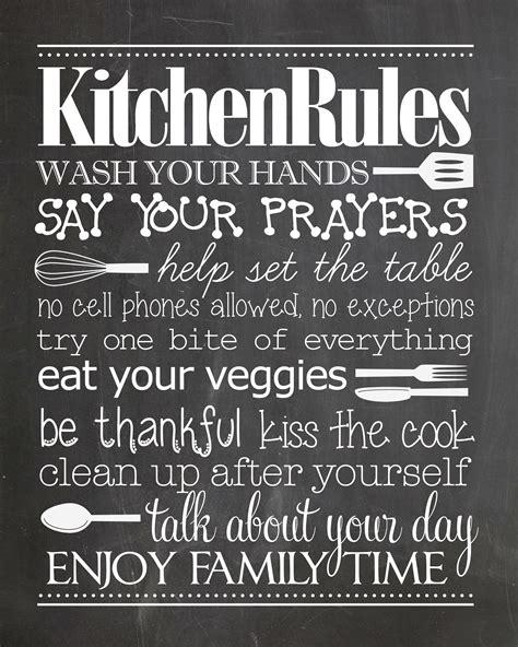 kitchen rules  printable   pinterest