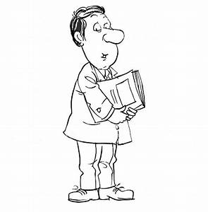 Business Man Holding Paperwork Coloring Pages: Business ...