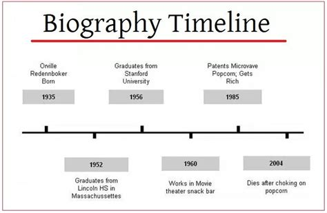 biography timeline templates  printable