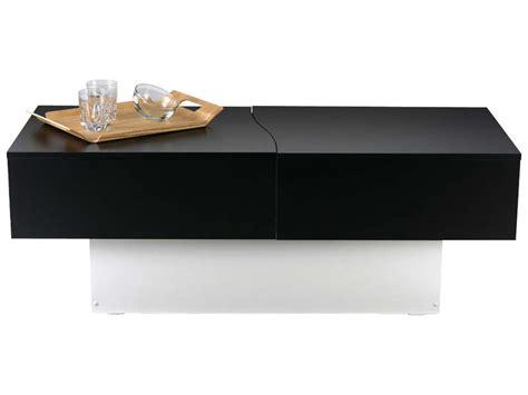 canapé noir et blanc conforama table basse city box coloris noir blanc vente de table