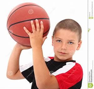 Adorable Boy Child Basketball Player In Uniform Royalty ...