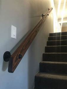Pipe and wood hand rail made from scratch Custom Rustic