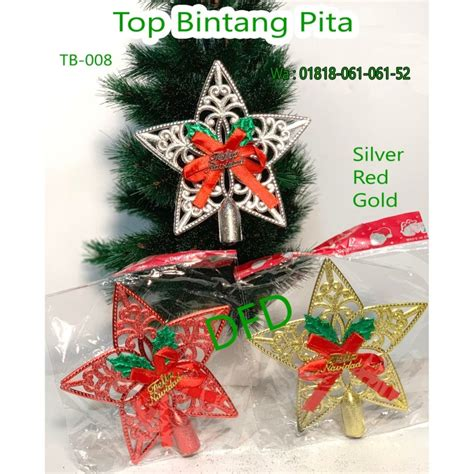 Jual Aksesoris Natal / Ornamen Pohon Natal / ( Top Bintang
