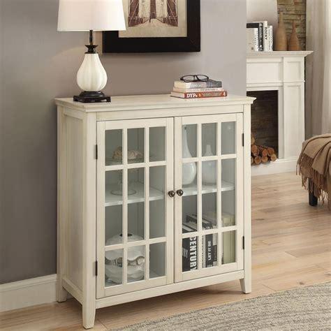 Linon Home Decor Largo Antique White Storage Cabinet