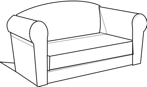 black and white sofa and loveseat sofa clip art cliparts
