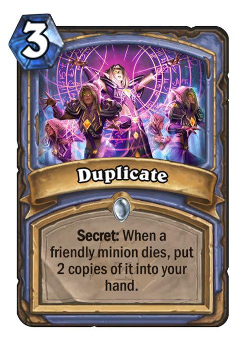 hearthstone deck type definitions duplicate hearthstone card