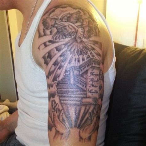 Staircase To Heaven Tattoo by Stairway To Heaven Tattoo Sleeve 124229 Large Heaven