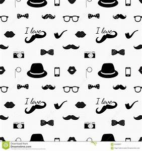 Hipster Black And White Seamless Pattern Stock Vector ...