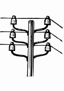coloring page electricity pole img 28109 With pole wiringjpg