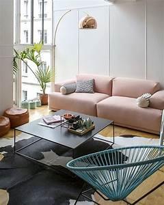 Canapé Rose Pale : les 25 meilleures id es de la cat gorie canap rose sur pinterest meubles rose et canap ~ Teatrodelosmanantiales.com Idées de Décoration