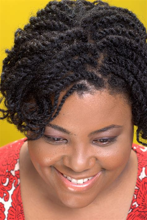 two strand twist on short natural hair hairstyle for