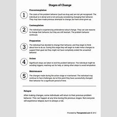 Stages Of Change (worksheet)  Therapist Aid