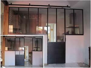 Exceptionnel Porte Coulissante Verriere Atelier YB41