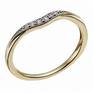 9ct yellow gold diamond shaped wedding ring hsamuel With 9ct wedding rings