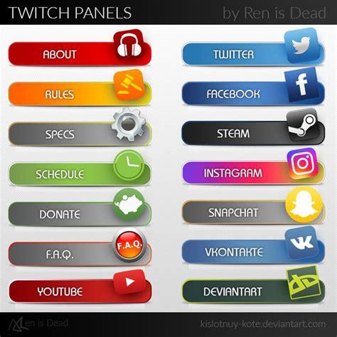 Twitch Info Panel Templates by Les 464 Meilleures Images Du Tableau Video Creation Sur