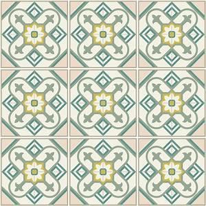 Stickers Carreaux De Ciment : 9 stickers carreaux de ciment azulejos nesa cuisine ~ Premium-room.com Idées de Décoration