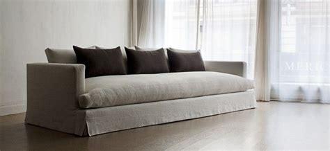 Lumbar Pillows For Sofa by Modern Linen Sofa With Lumbar Pillows Family Room