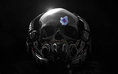 wallpaper skull mass effect andromeda  creative