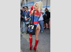 Courtney Stodden arrives at ComicCon to promote PETA in