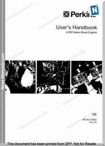 Perkins 4 203 Series Diesel Engine User Manuals