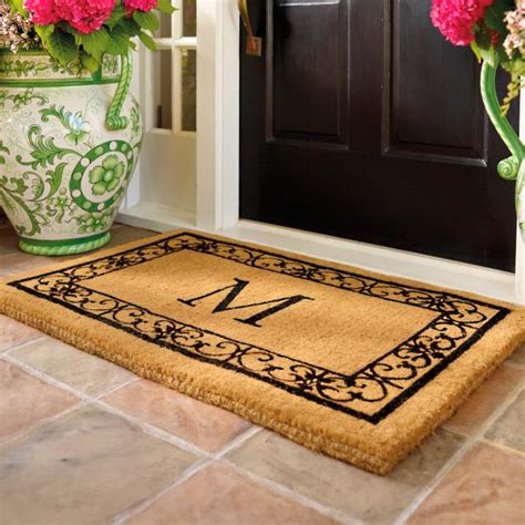 Initial Doormat by Wayland Monogrammed Coco Mat Frontgate