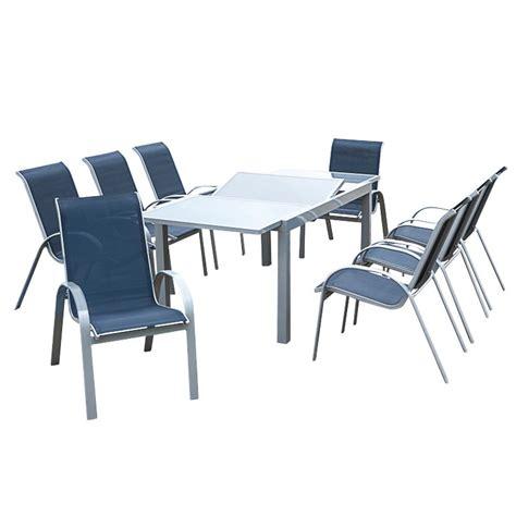 merxx gartenmöbel set amalfi 9 teilig gartenessgruppe amalfi 9 teilig aluminium textilene