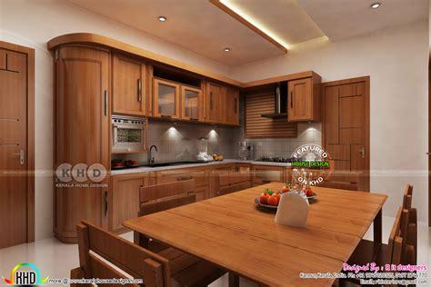 Interior Designs Kitchen by Dining Kitchen Interior Designs Kerala Home Design And