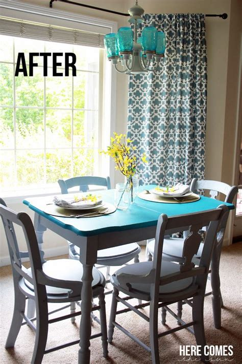 kitchen table makeover with chalky finish paint here