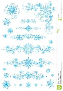 Snowflake Divider Clip Art