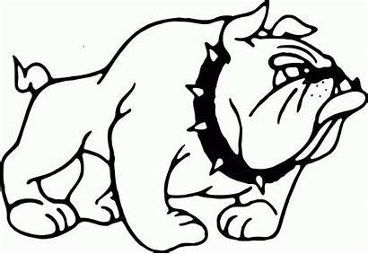 Coloring Bulldog Printable Dog Puppy Middle Bull