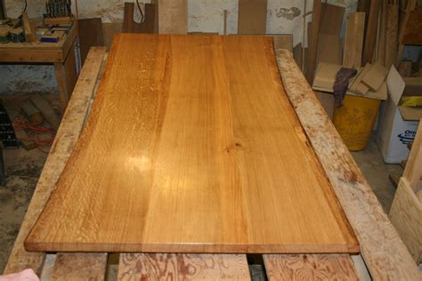 live edge oak table custom made white oak dining table top live edge by