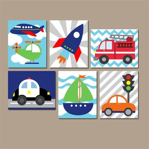 Transportation Wall Art Canvas Or Prints Boy Nursery Artwork
