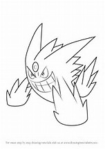 HD Wallpapers Pokemon Coloring Pages Mega Gengar