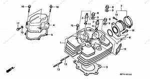 Honda Atv 1997 Oem Parts Diagram For Cylinder Head