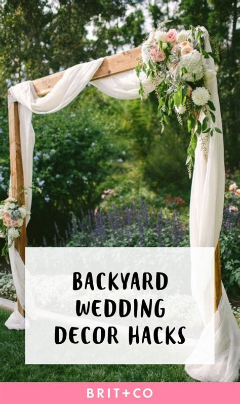 backyard wedding decor hacks for the most insta worthy nuptials brit co