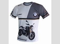 BMW R nineT tshirt with logo and allover printed picture